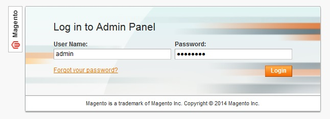 Logging In To Magento